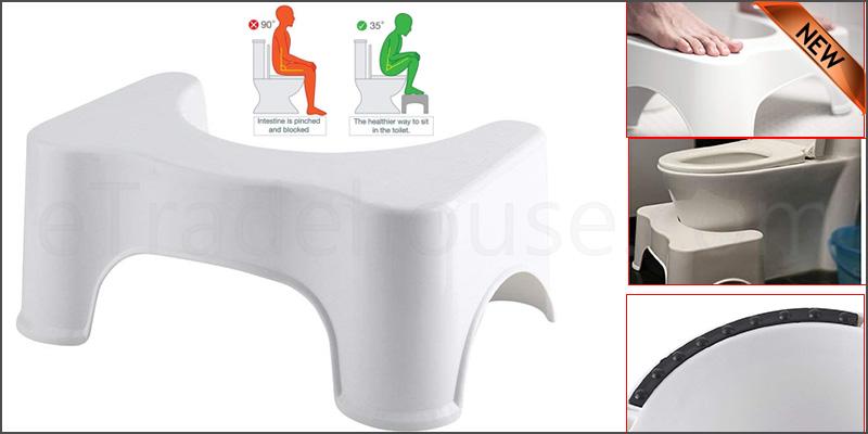 Toilet Stool Non Slip Bath Bathroom Squat Step Stool Platform Sit Step Shower Chair