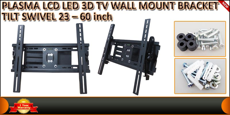 PLASMA LCD LED 3D TV WALL MOUNT BRACKET TILT SWIVE