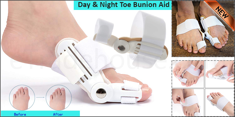 Day & Night Toe Bunion Aid Splint Hallux Valgus Straightener Corrector