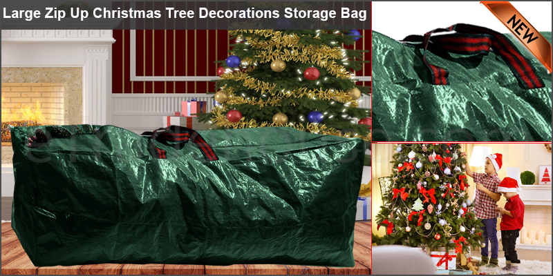 Large Zip Up Christmas Tree Decorations Storage Bag