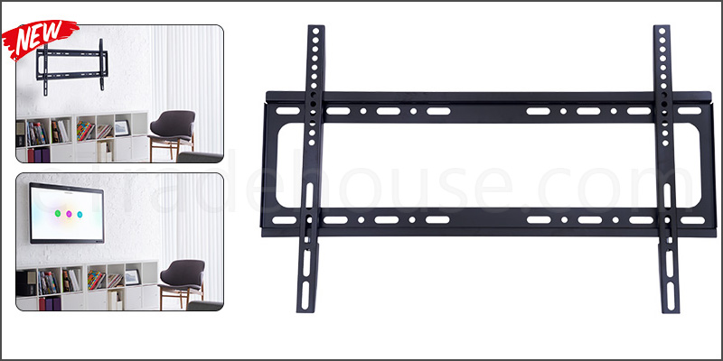 "37-70"" Ultra Slim Design Fixed TV Wall Mount Bracket with Spirit Level"