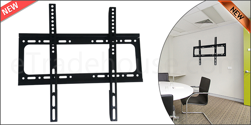26-55 Inches Slim Fix Wall Mount TV Bracket For 3D LCD LED PLASMA