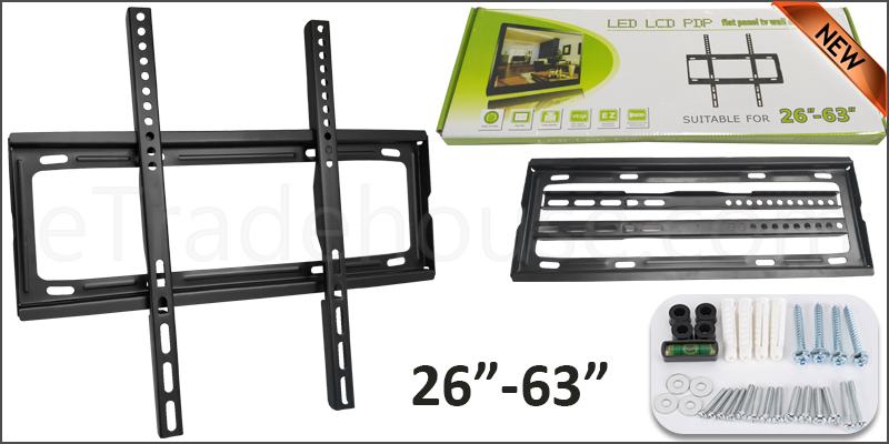 26-63 Inches Slim Flat Wall Mount TV Bracket For 3D LCD LED PLASMA