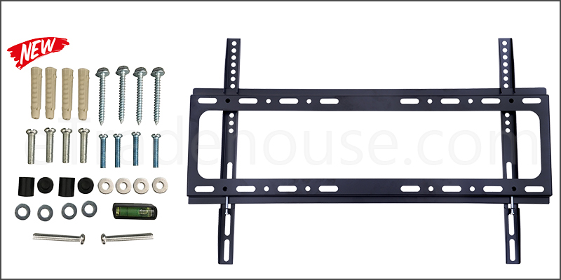 37-65 Inches Slim Tilt TV Wall Mount Bracket with Spirit Level for TV LED LCD Plasma