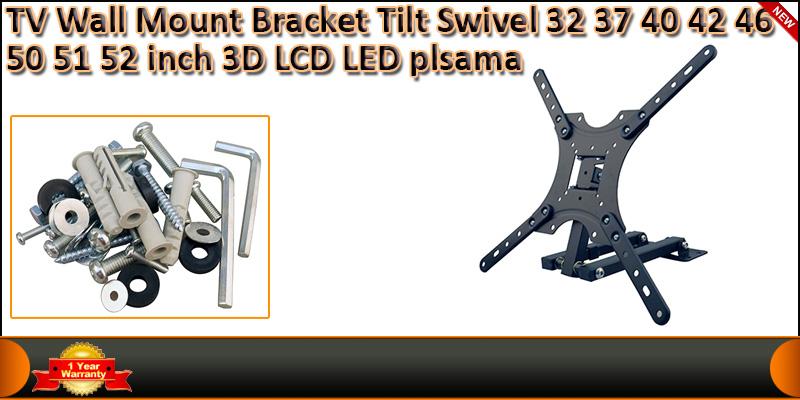 TV 3D LCD LED Plasma Wall Mount Bracket Tilt Swive