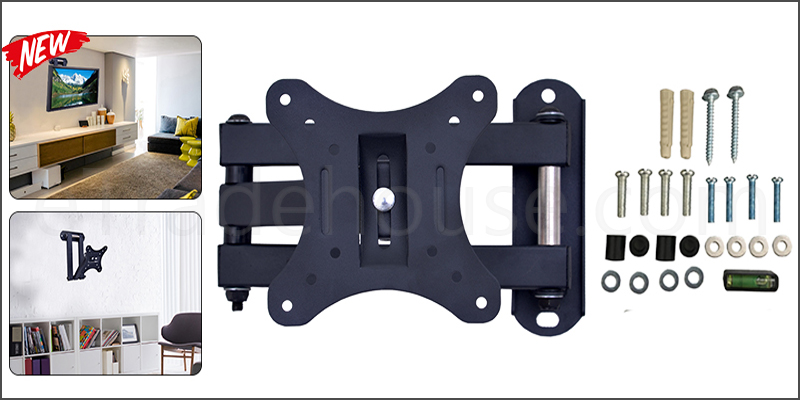 14-30 Inches Tilt Swivel Wall Mount Bracket with Spirit Level for TV LED LCD Plasma