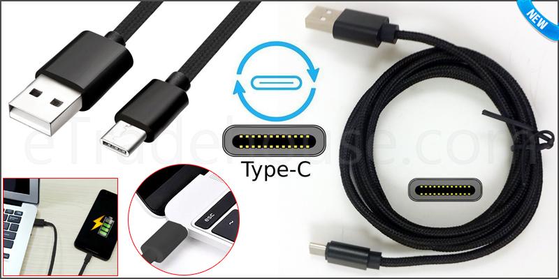 1.5M Strong Braided Heavy Duty USB C 3.1 Type-C Da