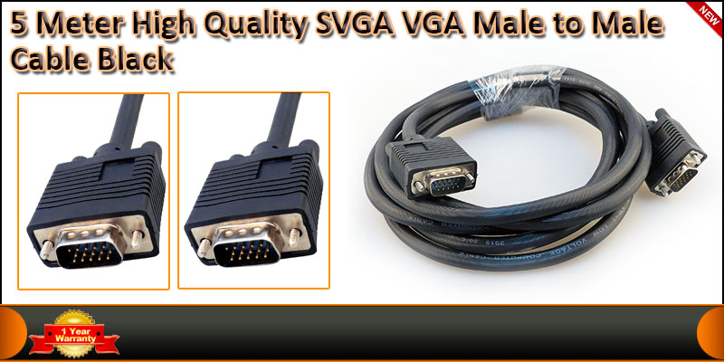 High Quality 5 Meter VGA Male to Male Cable
