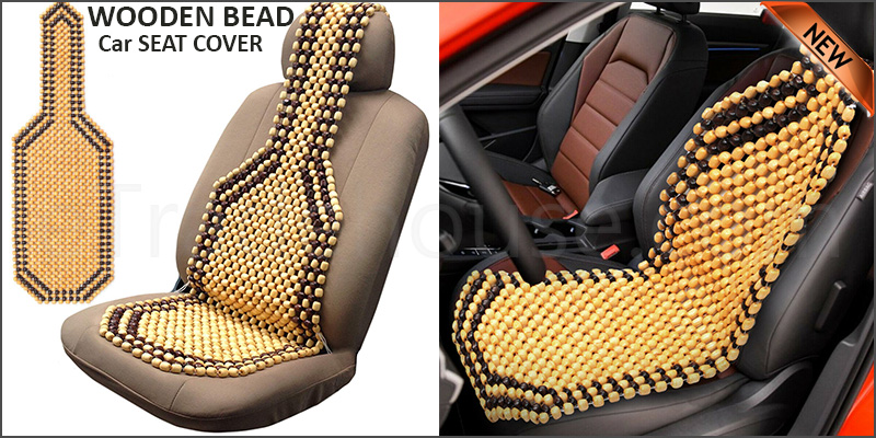 WOODEN BEAD CAR/VAN/TAXI FRONT SEAT COVER CUSHION - CLASSIC BEADED DESIGN