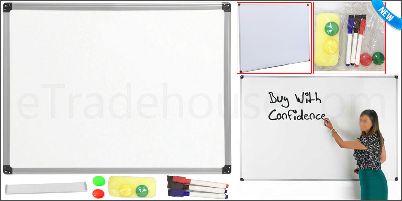 1200 x 900mm Office School Magnetic Dry Wipe White