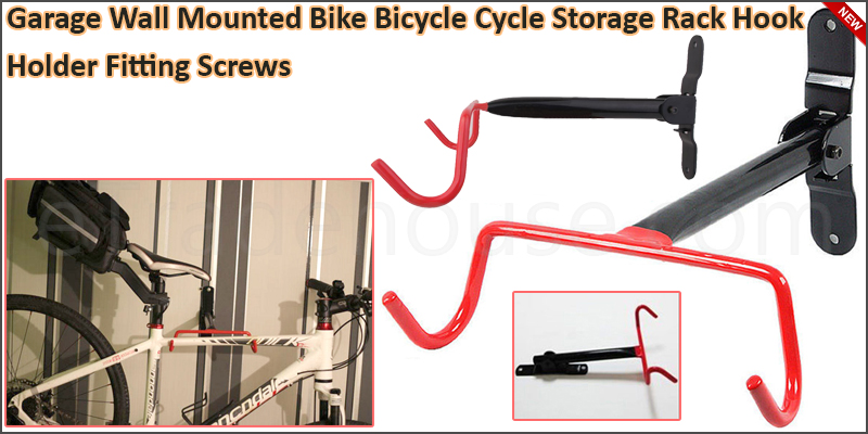 Garage Wall Mounted Bike Bicycle Cycle Storage Rac
