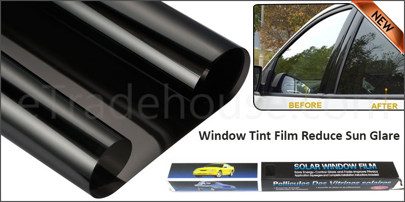 Black Car Van Limo Window Tint Film Reduce Sun Glare Universal Fit 3m x 50cm Kit