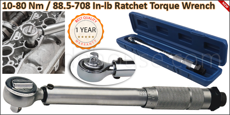 "3/8"" Square Drive 10-80 Nm / 88.5-708 In-lb Ratche"