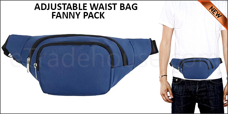 ADJUSTABLE WAIST BAG - FANNY PACK-DB