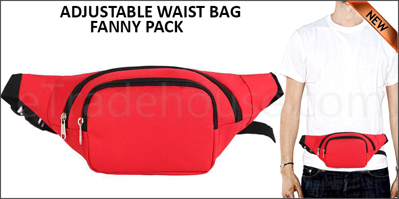 ADJUSTABLE WAIST BAG - FANNY PACK-R