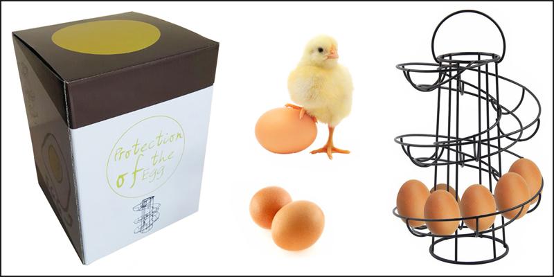 New Helter Skelter Spiral Egg Holder Swirl Storage