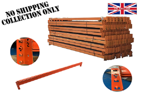 PLUSCOM Heavy Duty Industrial Warehouse PALLET Rackings Orange UK