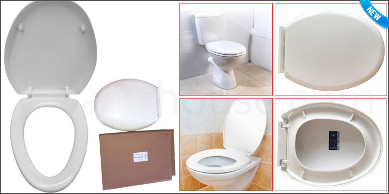 Luxury White Soft Close Bathroom Toilet Seat with