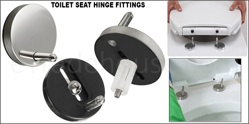 Pair of Top Fixing Toilet Seat Hinge Fittings Quick Release Hinges