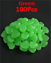 100pc Glow In The Dark Pebble Stones Luminous Garden Walkway Flower Bed Shiny GREEN