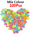 100pc Glow In The Dark Pebble Stones Luminous Garden Walkway Flower Bed Shiny MIX COLOURS