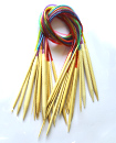 18 Set 60CM/80CM Smooth Bamboo Circular Knitting N