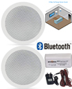 Bathroom Kitchen Wireless Bluetooth Amplifier 2x 5 Inch Ceiling Speakers