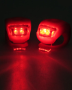 Pair Of 2 Led Silicone Mountain Bicycle Rear Light