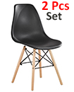 Plastic Designer Style Dining Chairs Eiffel Retro Lounge Office Chair 2 IN ONE PACKAGE COLOUR BLACK