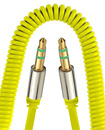 Universal 3.5mm Jack to Jack Coiled Male Aux Cable