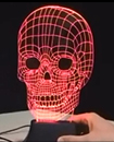 LED 3D Illuminated Skull Illusion Light Desk Micro USB Lamp