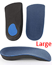 3/4 Orthotic Arch Support Insoles For Plantar Fasciitis Fallen Arches Flat Feet Large