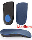 3/4 Orthotic Arch Support Insoles For Plantar Fasciitis Fallen Arches Flat Feet Medium