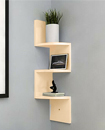 3 Tier Floating Wall Shelves Corner Shelf Storage Display Bookcase 3 Tier