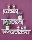 3Pcs White Wooden Wall Mounted Shelf Display Hanging Rack Storage Holder Home Décor