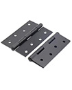 "Pair Of Large 4""/100mm BLACK BUTT HINGES HEAVY DUTY Strong Steel Country Door"