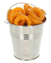 4 x STEEL TIN SERVING BUCKETS, FOOD PRESENTATION, CHIP FRIES DISPLAY PLANTS POT