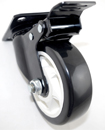4 x Heavy Duty 600kg 100mm PU Swivel Castor Wheels