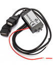 12V/24V to 5V Dual USB Ports Car Charger Module