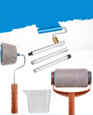 6Pcs Paint Roller Brush Handle Pro Flocked Edger Room Wall Painting Runner