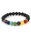 Beautiful Lava Stone Chakra Crystal 7 Gemstone Bea