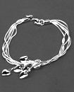 925 Sterling Silver 5 Heart Charms Bracelet Chain