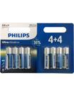 8 x PHILIPS AA Ultra Power Alkaline Batteries - LR06, MN1500 1.5V