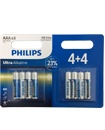 8 x PHILIPS AAA Ultra Power Alkaline Batteries - LR03, MX2400, MN2400, MICRO