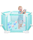 Child Baby Children Kid Playpen Play Pen Room 18 Poles/Bars Sided + Free 100*Ball