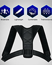 Unisex Adjustable Magnetic Posture Back Support Brace Shoulder Belt Corrector