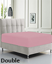 DEEP FITTED SHEET WITH ELASTIC BED SHEETS FOR MATTRESS  DOUBLE