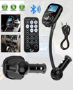 Bluetooth FM Car Transmitter Kit with Remote Support USB SD Card Aux in/out