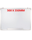 500 X 350MM Office School Magnetic Dry Wipe Whiteboard Drawing Notice Board