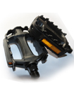 Pair of Adult Mountain Cycle Bike Black Reflector Pedals